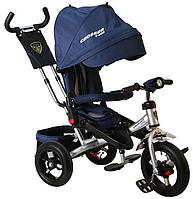 Трехколесный велосипед-коляска Azimut Crosser T-400 синий***