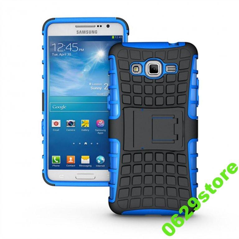 Чехол Samsung A700 / A7 2015 противоударный бампер синий