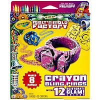 Crayola Форма для изготовления блестящих колец (Crayola Melt 'N Mold Bling Rings Expansion Pack), фото 1