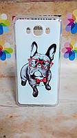 Силиконовый чехол бампер для Samsung J710 Galaxy J7-2016 с рисунком Собака в очках