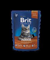 Корм Brit Premium Cat Indoor для кошек живущих в помещении с курицей