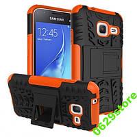 Чехол Samsung J105 / J1 mini противоударный бампер оранжевый