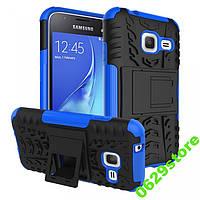 Чехол Samsung J105 / J1 mini противоударный бампер синий