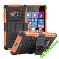 Чехол Microsoft Lumia 535 противоударный бампер оранжевый