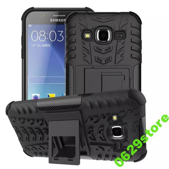 Чехол Samsung J200 / J2 противоударный бампер черный