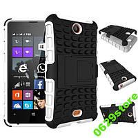 Чехол Microsoft Lumia 430 противоударный бампер белый