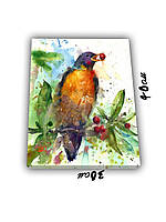 Картина на холсте 30х40см  Птичка
