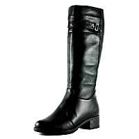 Сапоги зимние женские SDZ 405-1-2 черный с натуральной кожи размеры: 37 38 41