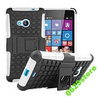 Чехол Microsoft Lumia 535 противоударный бампер белый