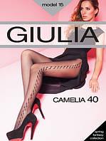 Стильные женские капроновые колготы Giulia СAMELIA с рисунком 40 den, 68/75