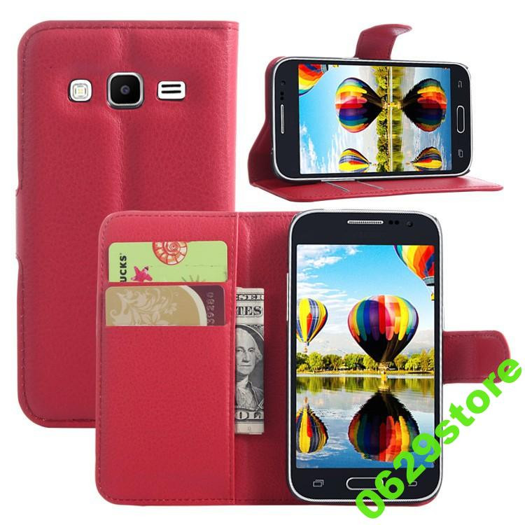 Чехол Samsung G360 / G361 / Galaxy Core Prime книжка PU-Кожа красный