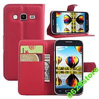 Чехол Samsung G360 / G361 / Galaxy Core Prime книжка PU-Кожа красный, фото 1