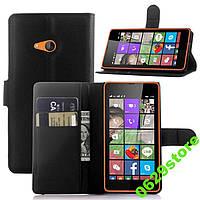Чехол Microsoft Lumia 540 книжка PU-Кожа черный