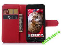 Чехол Asus Zenfone C / ZC451CG книжка PU-Кожа красный