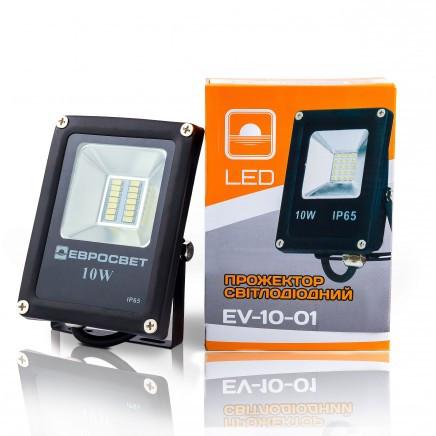 Светодиодный прожектор EVRO LIGHT 10Вт EV-10-01  6400K 800Lm SanAn SMD