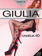 Женские колготы Giulia СAMELIA с рисунком 40 den, 70/78