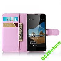Чехол Microsoft Lumia 550 книжка PU-Кожа светло-розовый