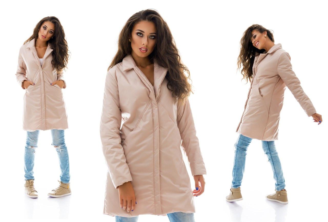 702cab3bab6 Женское демисезонное женское пальто на кнопках утеплитель синтепон ...