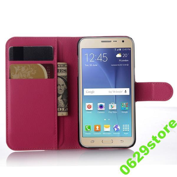 Чехол Samsung J200 / J2 книжка PU-Кожа розовый