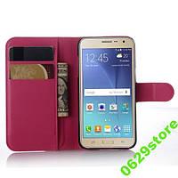 Чехол Samsung J200 / J2 книжка PU-Кожа розовый, фото 1