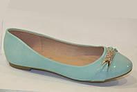 Балетки туфли мятного цвета