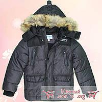 Зимняя куртка на синтепоне Капюшон и мех отстёгивается для мальчика от 5 до 9 лет (4712-2)