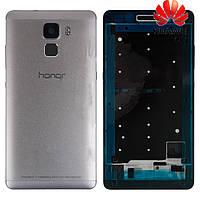 Корпус для Huawei Honor 7, серебристый, оригинал