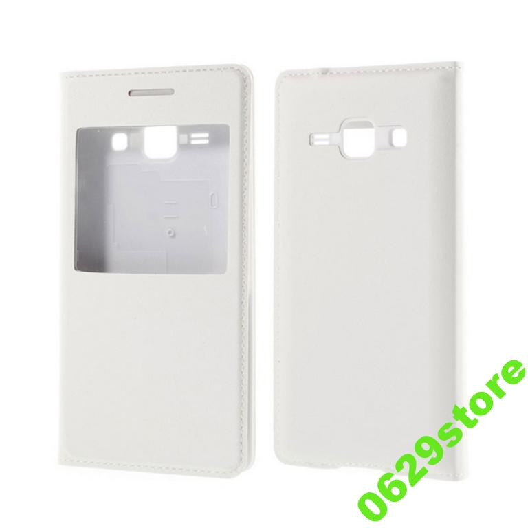 Чехол Samsung J700 / J7 книжка с окном белый