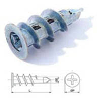 Дюбель стальной для гипсокартонных систем и пенобетона 15*29