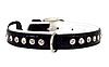 Ошейник Collar Brilliance со стразами премиум класса черно-белый