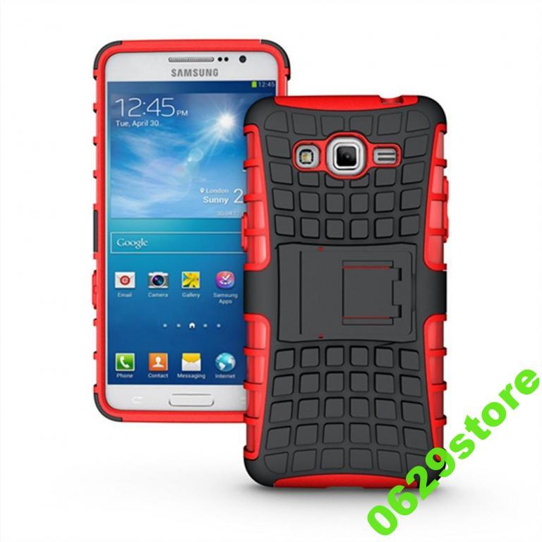 Чехол Samsung G530 / G531 / Galaxy Grand Prime противоударный бампер красный