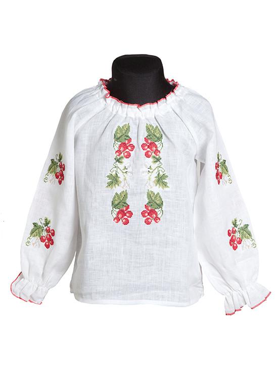 Льняная вышиванка для девочки