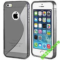 Чехол Iphone 5 / 5S / SE силикон TPU S-LINE серый