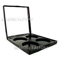 Пустой пан для теней с зеркалом 4 цвета Beauties Factory Empty Eyeshadow Case