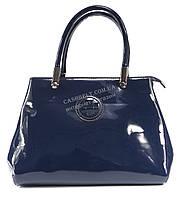 Оригинальная лаковая женская сумка синего цвета KISS ME art. A-4819-1