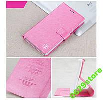 Чехол Meizu M3 Note книжка Flower Ultrathin розовый