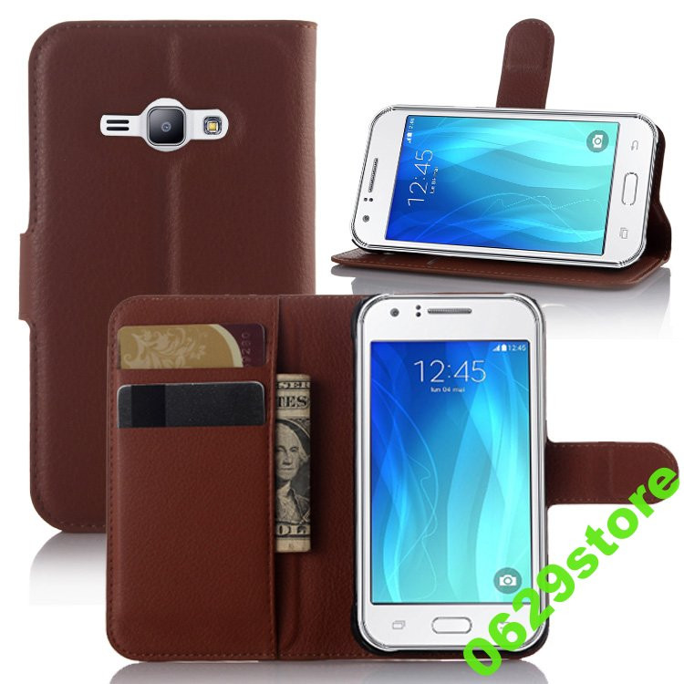 Чехол Samsung J100 / J1 книжка PU-Кожа коричневый