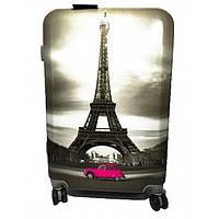 Чемодан пластиковый 60х45х30 см Eiffel Tower 999_011L