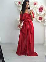Платье женское из шифона с подкладкой