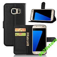 Чехол Samsung S7 / G930 книжка PU-Кожа черный