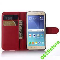 Чехол Samsung J320 / J300 / J3 / J3 2016 книжка PU-Кожа красный, фото 1