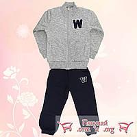 Спортивный костюм с начесом для девочек от 3 до 7 лет (4717-2)