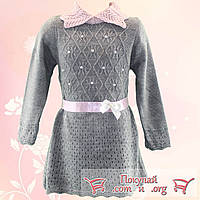 Платье Вязанное с длинным рукавом для девочки Размеры: 2-3,3-4 года (4718-2)