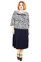 Платье большого размера Роза Батал №5, дропшиппинг, платье для полных женщин, батал