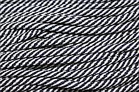 Шнур 7мм спираль (100м) т.синий+белый
