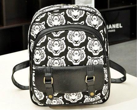 женский рюкзак с тиграми