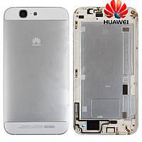 Задняя часть корпуса (крышка аккумулятора) для Huawei Ascend G7, серебристая, оригинал