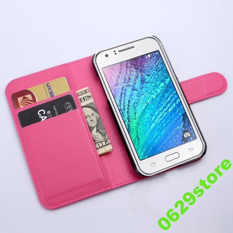 Чехол Samsung J110 / J1 Ace книжка PU-Кожа розовый
