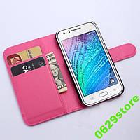 Чехол Samsung J110 / J1 Ace книжка PU-Кожа розовый, фото 1