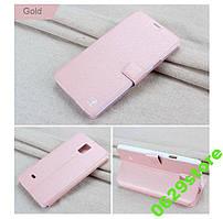 Чехол Samsung Note 4 / N910 книжка Flower Ultrathin розовое золото
